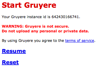 Gruyere - vyzkoušejte si legální hacking webové aplikace od